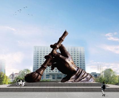 黑龙江北安铜手雕塑 天津善大景观工程有限公司【善大雕塑】