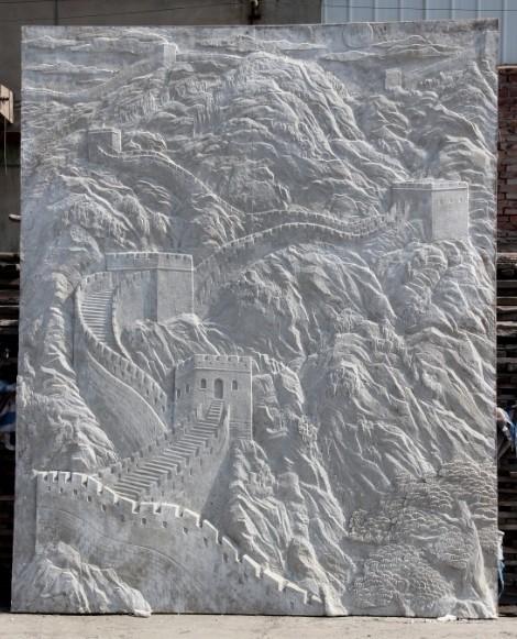 天津雕塑—【天津浮雕工程】长城浮雕室内墙壁装饰浮雕
