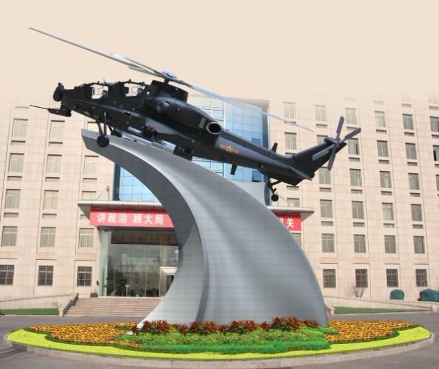 不锈钢雕塑制作进行中---飞机雕塑