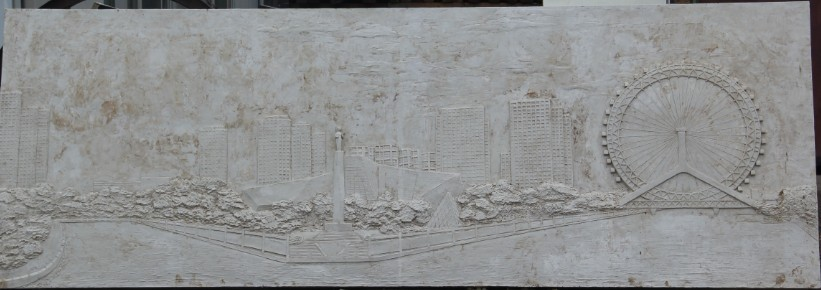 玻璃钢浮雕 天津玻璃钢雕塑制作   消防队浮雕  天眼浮雕   滨河浮雕