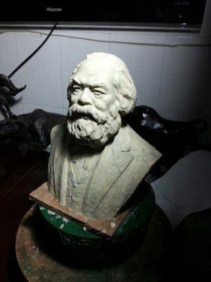 马克思雕像 天津人物雕塑制作 学校雕塑制作 校园