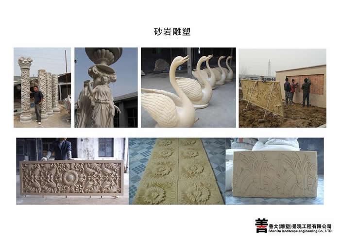 天津雕塑公司 善大雕塑 砂岩浮雕雕塑工程作品