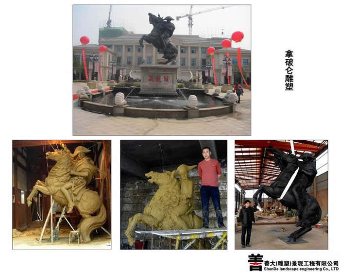 拿破仑人物雕塑【天津善大雕塑公司工程展示】