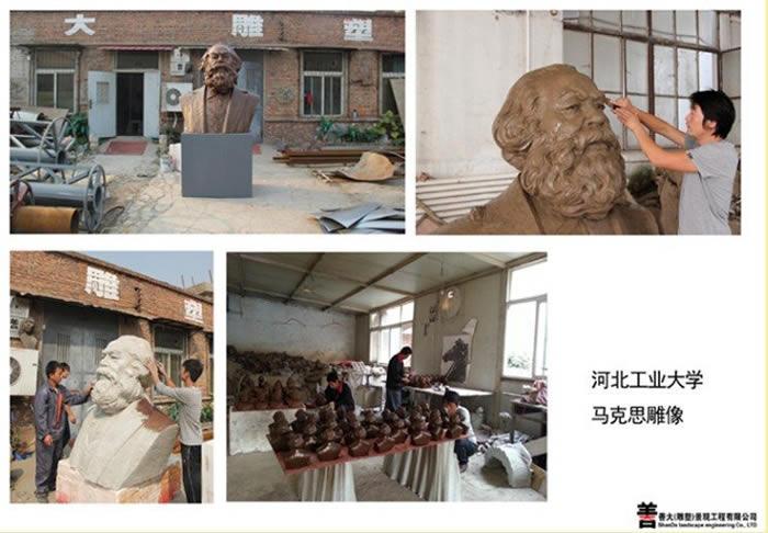 河北工业大学马克思人物雕塑【天津善大雕塑公司工程展示】