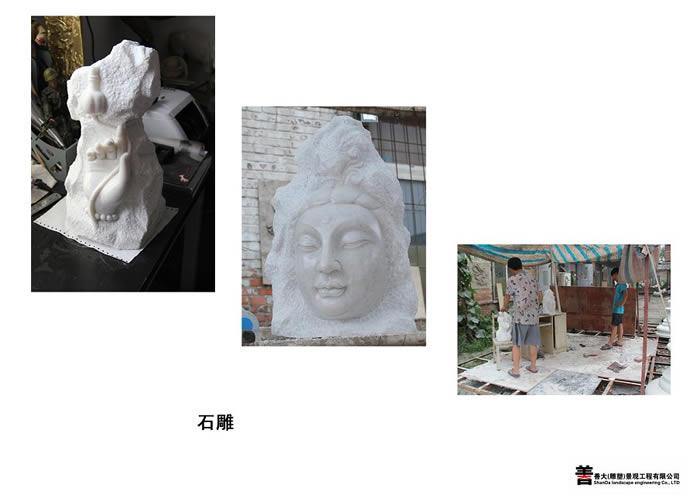 天津人物石雕【天津善大雕塑公司工程展示】