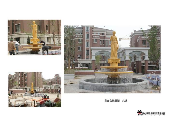 日光女神景观雕塑【天津善大雕塑公司工程展示】