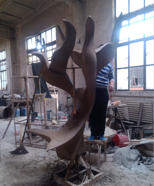 大港消防文化雕塑工程竣工